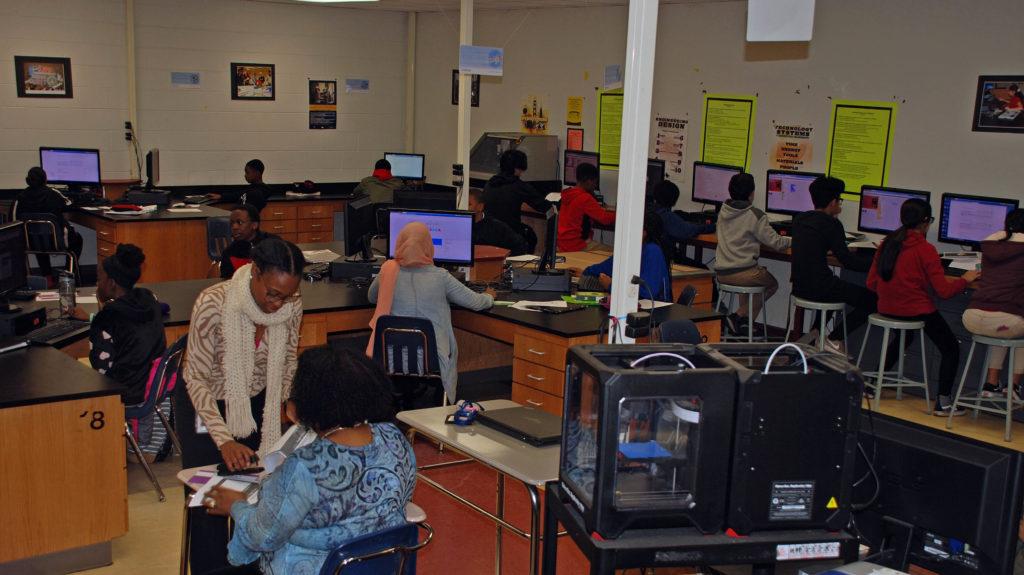 Evolution Arts Founder, Zakiya Davidson, disrupting the educational status quo at Stone Mountain Middle School.